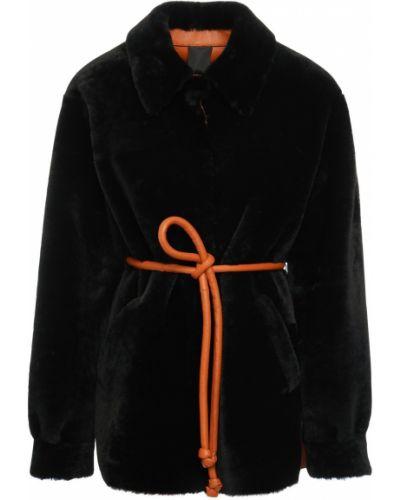 Черная куртка двусторонняя с манжетами Blancha