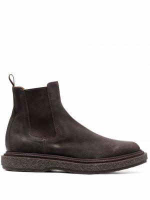 Коричневые резиновые ботинки Officine Creative