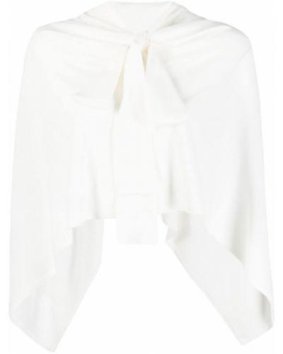 Белая блузка с вырезом из вискозы P.a.r.o.s.h.