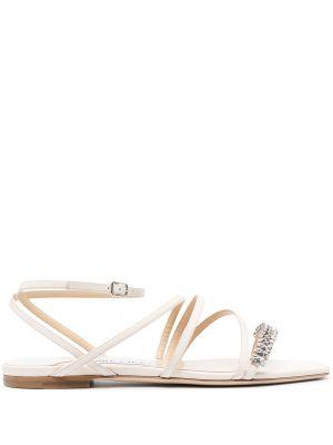 Z paskiem skórzany sandały z klamrą Jimmy Choo