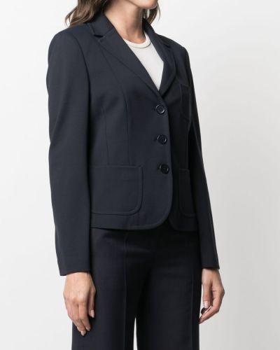 Однобортный синий удлиненный пиджак на пуговицах Seventy