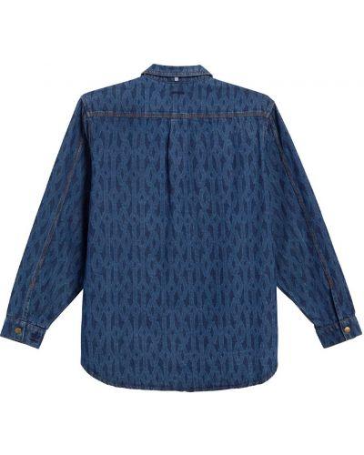 Синяя джинсовая рубашка Adidas X Ivy Park