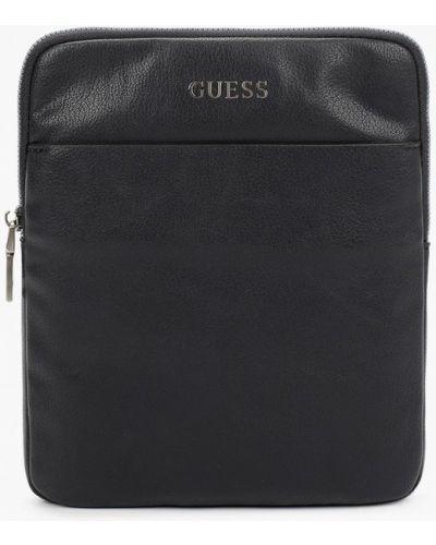 Синяя кожаная сумка через плечо Guess