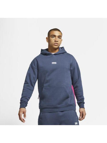 Niebieski bluzka z kapturem Nike
