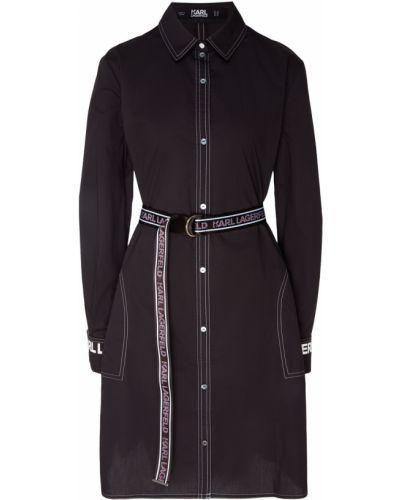 Платье с поясом платье-рубашка с длинными рукавами Karl Lagerfeld