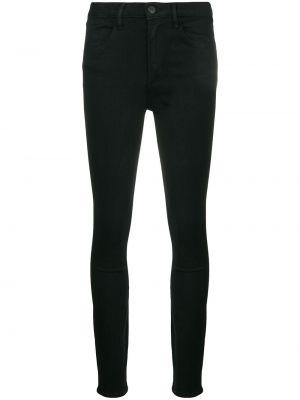 Зауженные джинсы с завышенной талией - черные 3x1