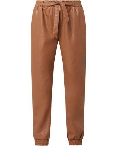 Spodnie skorzane - beżowe Cream