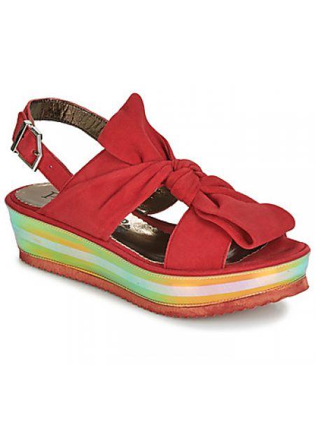 Czerwone sandały Papucei