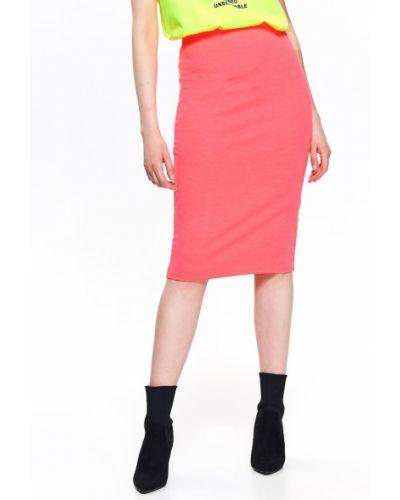Różowa spódnica z wiskozy Top Secret