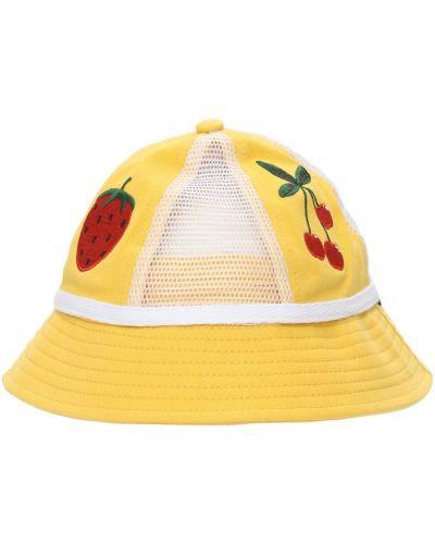 Żółty kapelusz bawełniany Mini Rodini