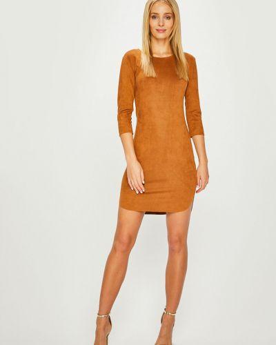 Платье мини трикотажное с вырезом Answear