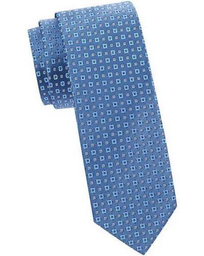 Niebieski krawat z jedwabiu z haftem Hugo Hugo Boss