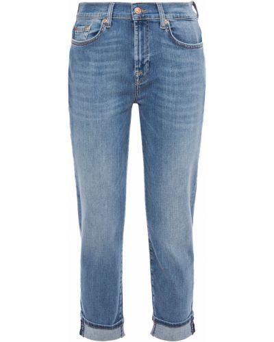 Текстильные синие джинсы с поясом 7 For All Mankind
