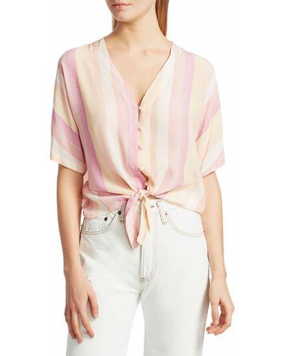 Блузка из вискозы с короткими рукавами в полоску Rails