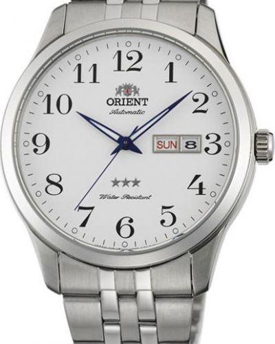 Часы механические водонепроницаемые белые Orient
