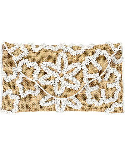 Biała kopertówka elegancka z haftem From St Xavier