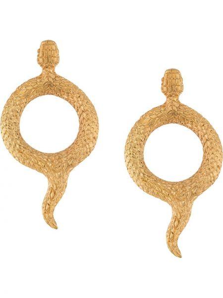 Золотистые желтые серебряные серьги круглые позолоченные Natia X Lako