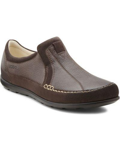 Кожаные кроссовки замшевые повседневные Ecco