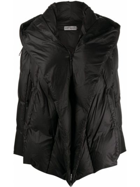 Классическая нейлоновая черная стеганая куртка с перьями Issey Miyake