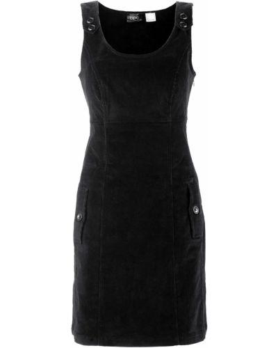 Платье мини вельветовое платье-сарафан Bonprix