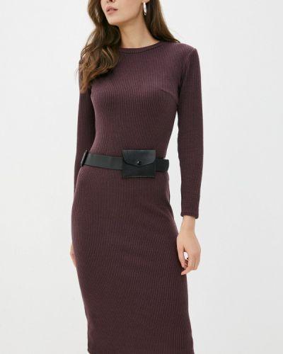 Бордовое платье а-силуэта Miss Gabby