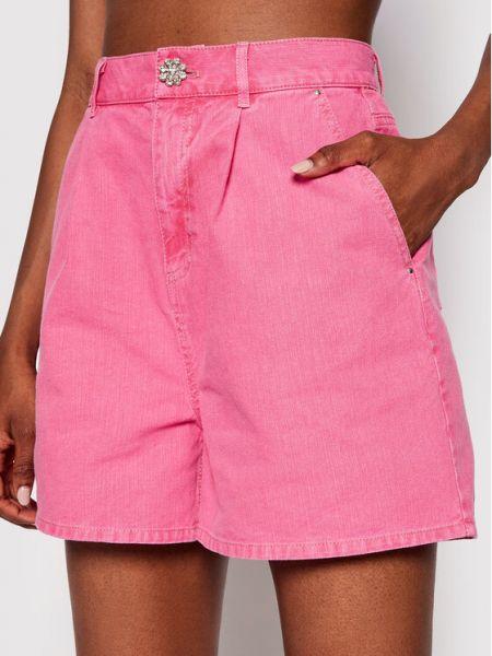 Różowe szorty jeansowe Custommade
