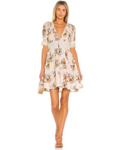 Плиссированное платье - бежевое Agua Bendita