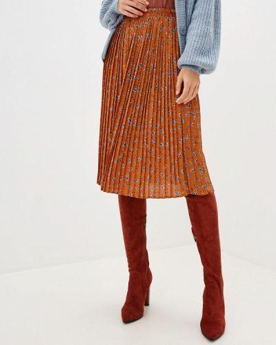 Плиссированная юбка коричневый Ichi