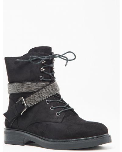 Ботинки черные замшевые Vensi