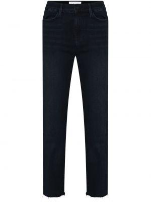 Прямые хлопковые синие прямые джинсы Frame
