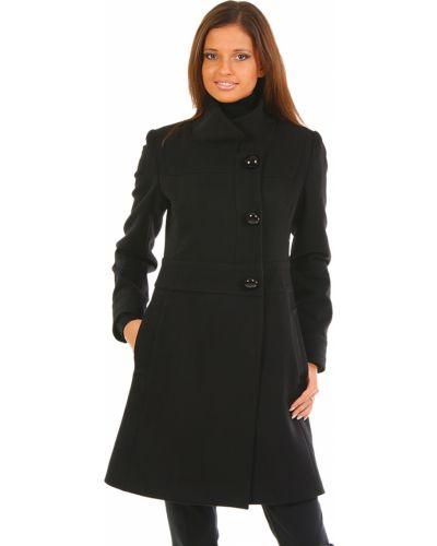 Черное пальто с капюшоном Perspective