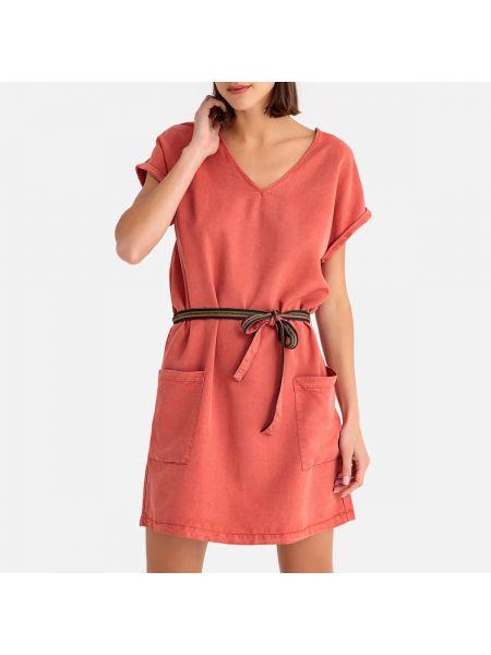 Прямое розовое платье мини на пуговицах из крепа Harris Wilson