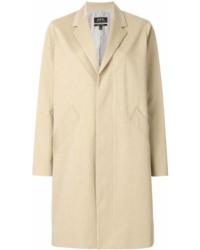 Бежевое пальто A.p.c.