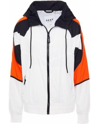 Белая куртка с капюшоном Dkny