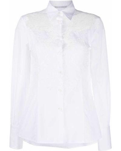 Белая рубашка с бабочкой с воротником Ermanno Scervino