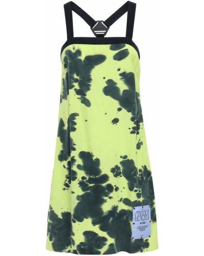 Шелковое платье - желтое Mcq