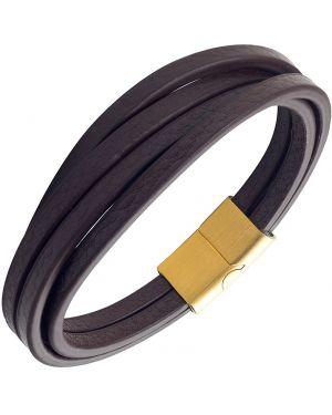 Кожаный браслет - черный Anton Smith