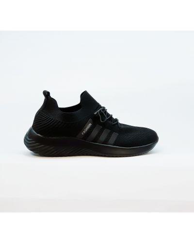 Текстильные черные кроссовки на шнурках Fashion