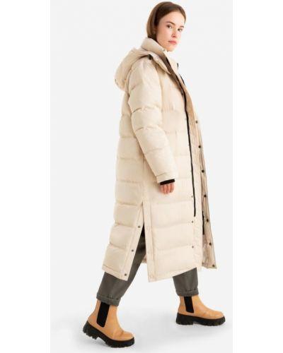 Джинсовая куртка с капюшоном - бежевый Gloria Jeans