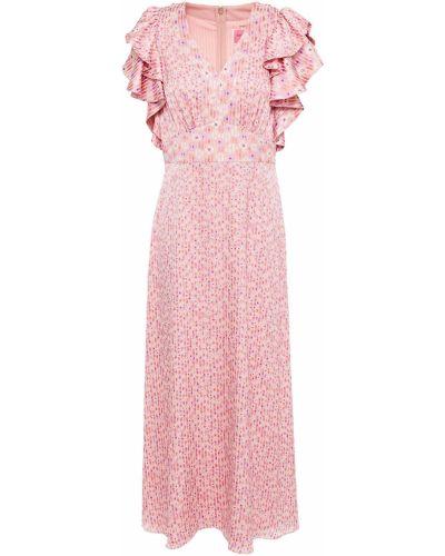 Платье миди атласное - розовое Kate Spade New York
