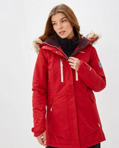 Утепленная куртка осенняя красная Merrell
