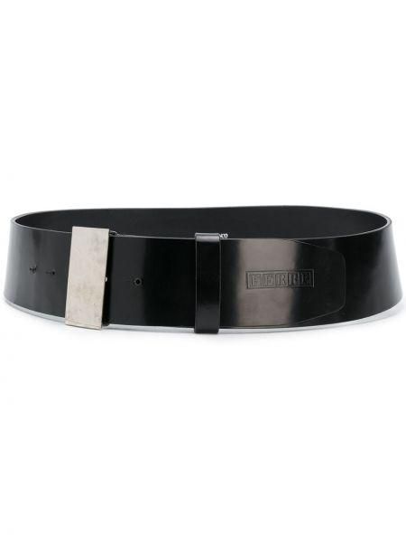 Лаковый кожаный черный ремень винтажный Gianfranco Ferre Pre-owned