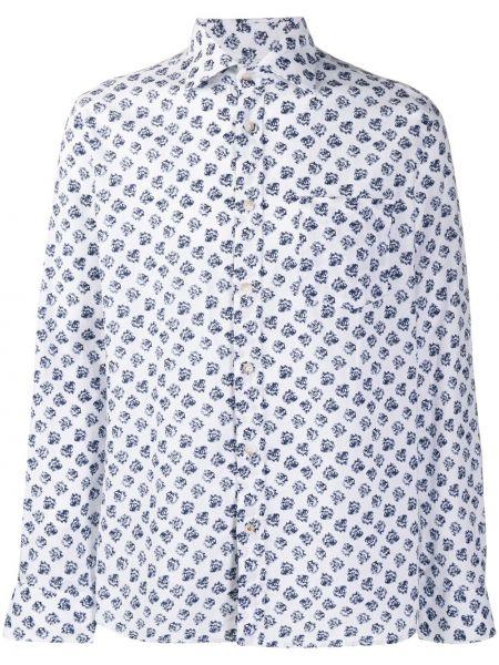 Koszula z długim rękawem długa z kwiatowym nadrukiem Seventy