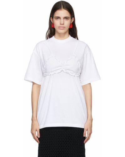 Biały biustonosz bawełniany Pushbutton