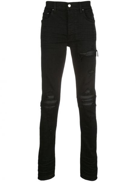 Spodnie skinny skórzany z paskiem Amiri