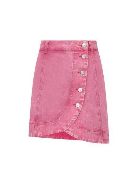 Джинсовая юбка с запахом асимметричная Ganni