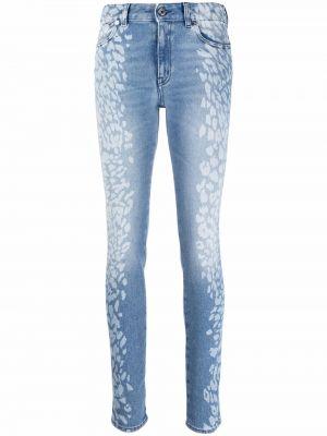 Облегающие зауженные джинсы - синие Just Cavalli