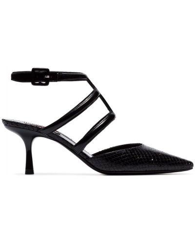 Черные туфли-лодочки с пряжкой на каблуке Fabrizio Viti