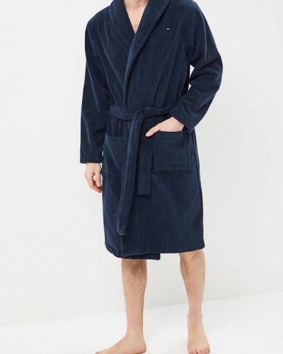 Синий халат Tommy Hilfiger
