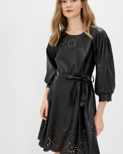 Кожаное платье - черное Rinascimento